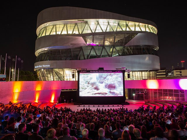 Mercedes Benz Museum - Open Air Kino