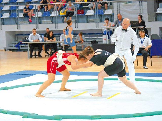 Sumo-Ring-Wettkampf