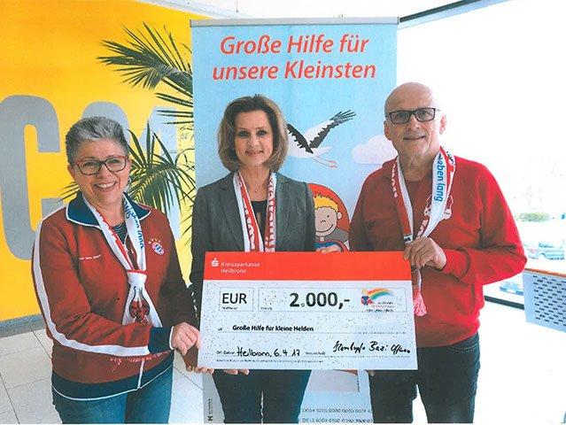 """Kornlupfer Bazi Offenau unterstützt """"kleine Helden"""""""