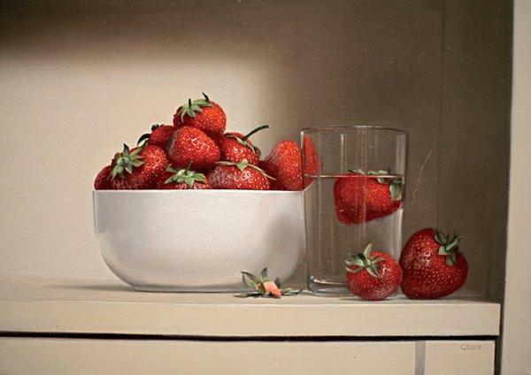 Pierre Gilou - Schale mit Erdbeeren