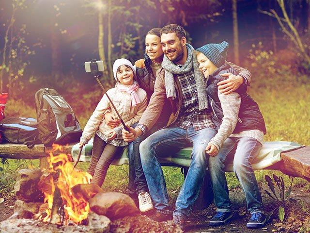 Familienurlaub am Lagerfeuer