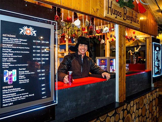Red Bull auf dem Ludwigsburger Weihnachtsmarkt