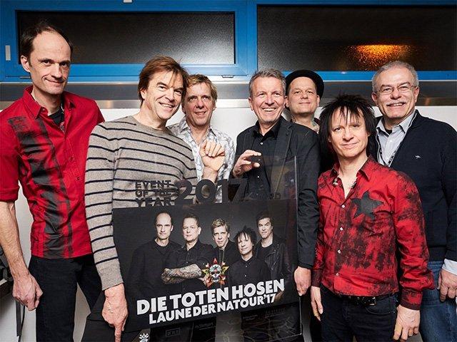 Toten Hosen erhalten den »Event Of The Year«-Award