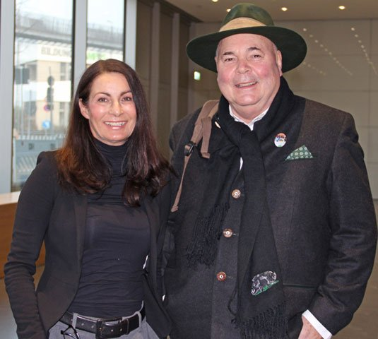 DHBW-Rektorin Nicole Graf mit Gastredner Rudolf Bühler