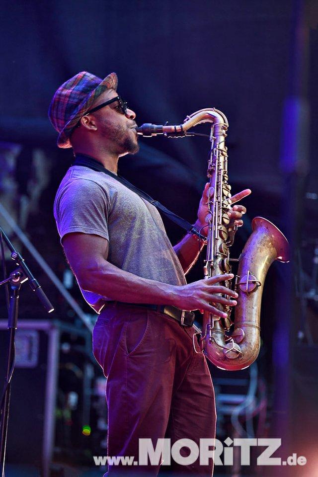 Gregory Porter bei den 25. JazzOpen in Stuttgart im Alten Schloss am 13.07.2018