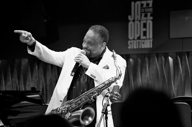 Chico Freeman bei den 25. JazzOpen Stuttgart 2018 im Bix Jazzclub