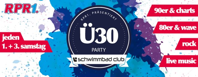 Ü30 Party Schwimmbadclub