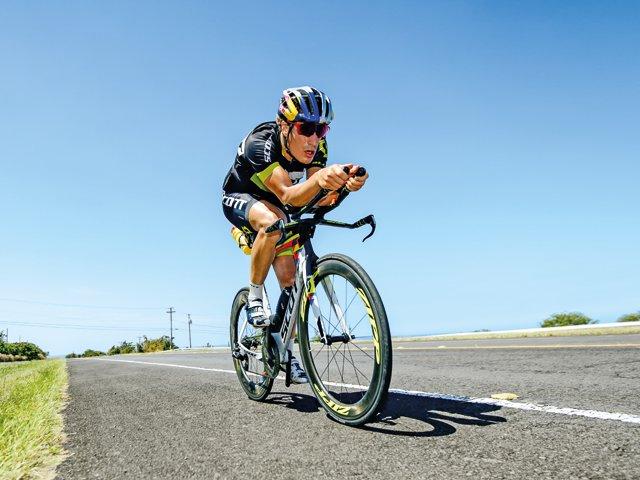 Triathlet Kienle Rad fahren
