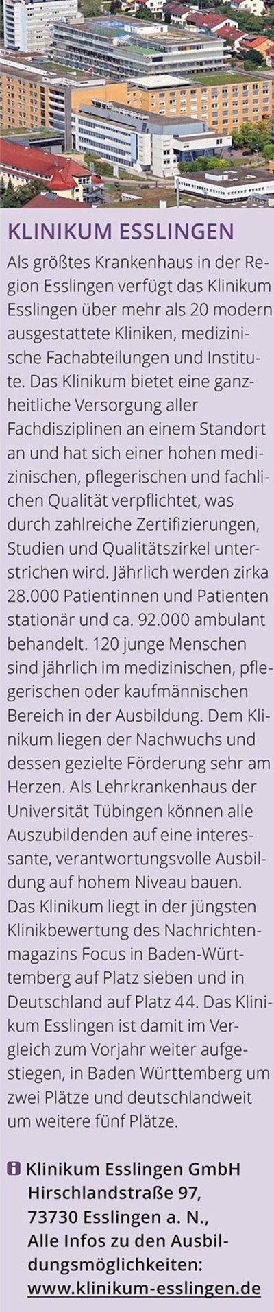 Anzeige Klinikum Esslingen info