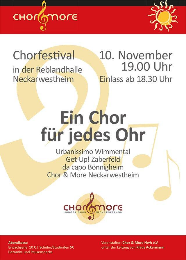 Plakat Chorfestival Neckarwestheim