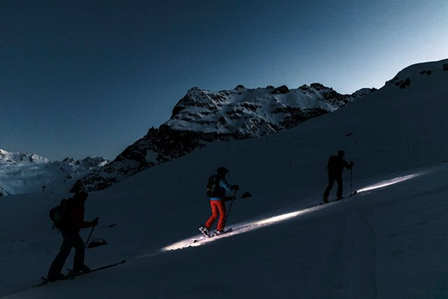Montafon Skiexkursion am Abend