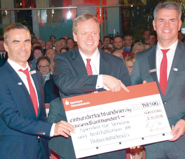 Spendenübergabe KSK Hohenlohe