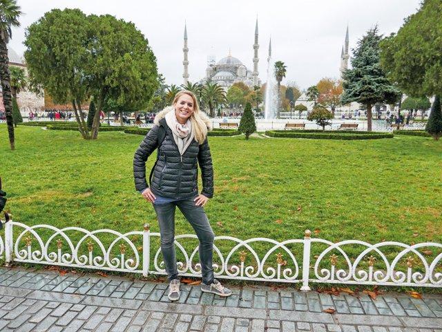 Kim Renkema Istanbul blaue Moschee