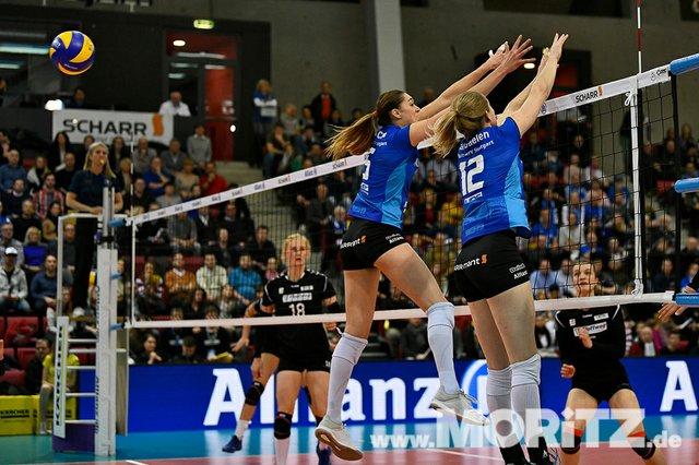 MTV Allianz Stuttgart vs. RR Vilsbiburg: Bundesliga Volleyball-Spiel am 20.01.2019 in der Scharr-Arena in Stuttgart