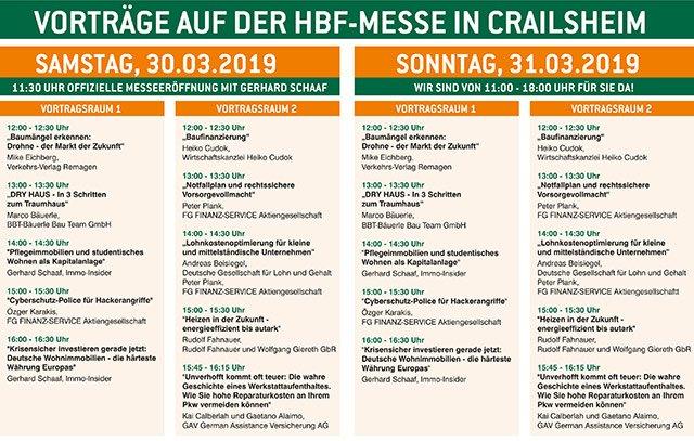 Vorträge Messe Crailsheim