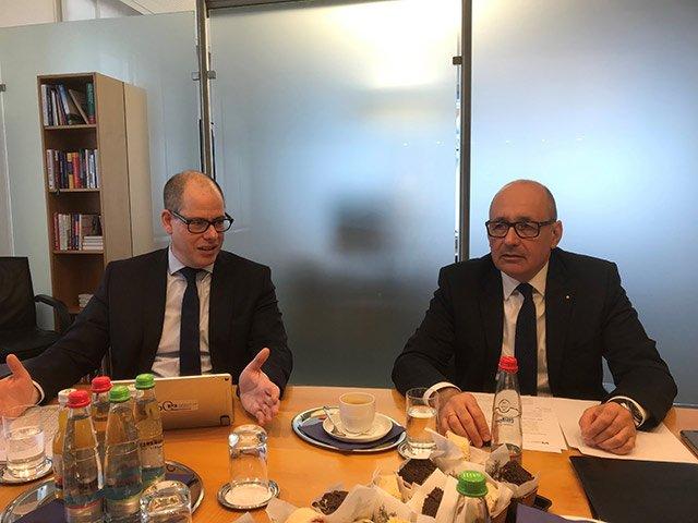Pressekonferenz Volksbank Mosbach Vorstände