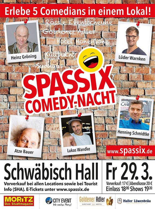 Flyer Spassix Hall