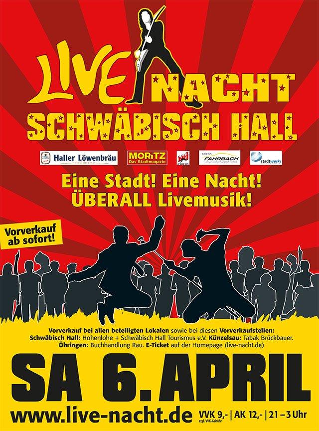 Live Nacht Schwäbisch Hall 19 Flyer
