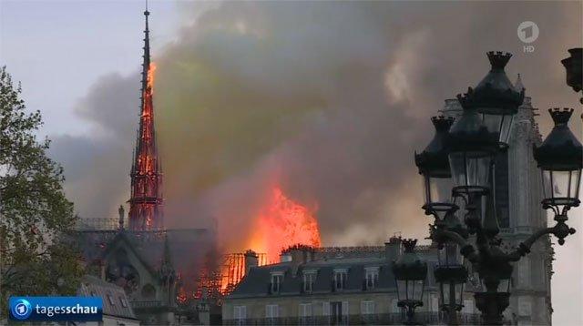 Notre-Dame brennt