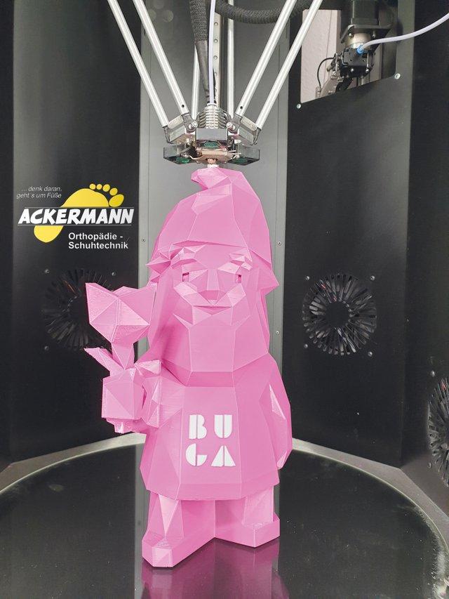 BUGA-Maskottchen Karl aus dem 3D-Drucker.
