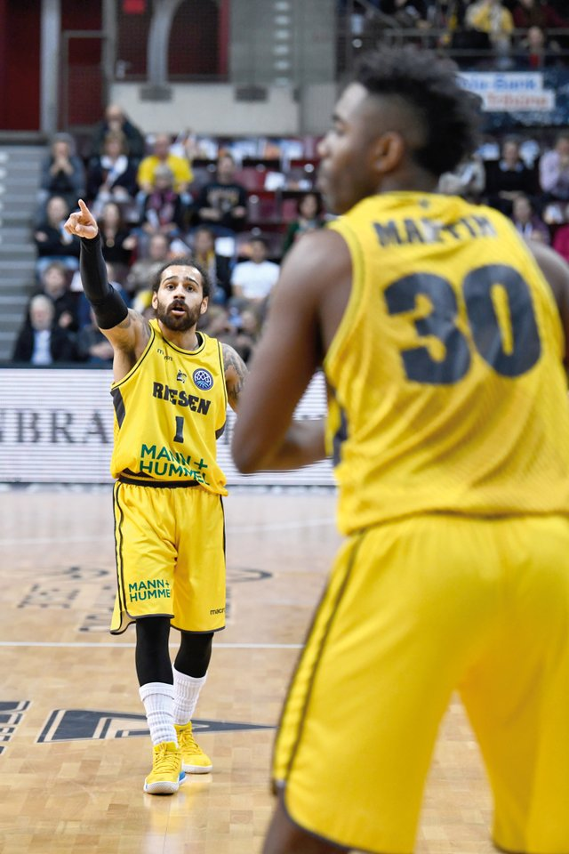 Basketball-Championsleague-Spiel MHP Riesen Ludwigsburg gegen Le