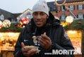 Thomas Wimbush, MHP-Riesen Ludwigsburg, auf dem Ludwigsburger Weihnachtsmarkt am 13.12.2019