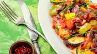 Grilled zucchini in Greek