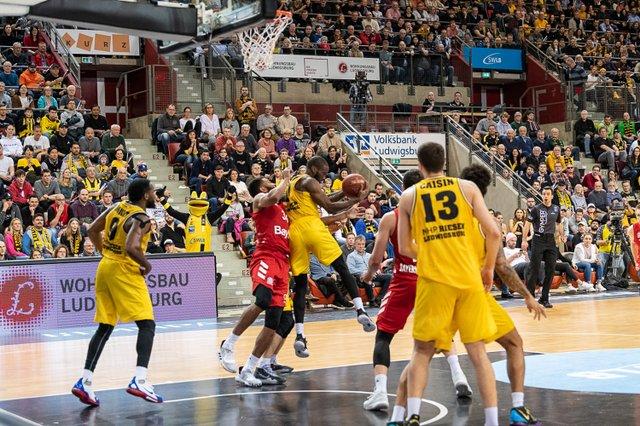 MHP Riesen Ludwigsburg gegen Bayern München Basketball 1. Bundesligaspiel am 19.01.2020 in der MHP-Arena Ludwigsburg