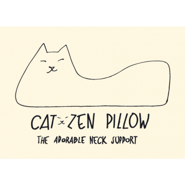 """Trendiges """"It"""" Nackenkissen """"Cat-Zen Pillow"""""""
