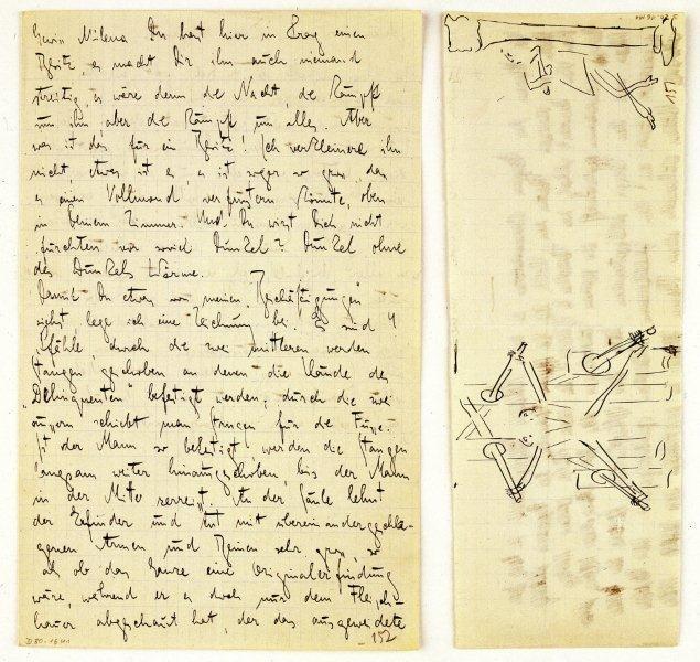 Brief von Franz Kafka an Milena Jesenská, September 1920