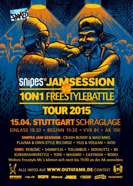 Jam Session & 10N1 Freestyle Battle Tour 2015
