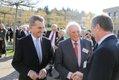 Günther H. Oettinger, Kommissar der Europäischen Union für Digitale Wirtschaft und Gesellschaft sowie Reinhold Gall, Innenminister des Landes Baden-Württemberg gratulieren dem Jubilar.