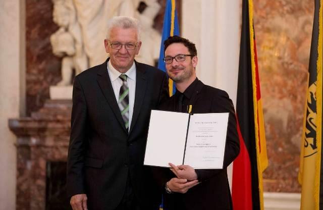 Eric Gauthier erhält Verdienstorden des Landes Baden-Württemberg
