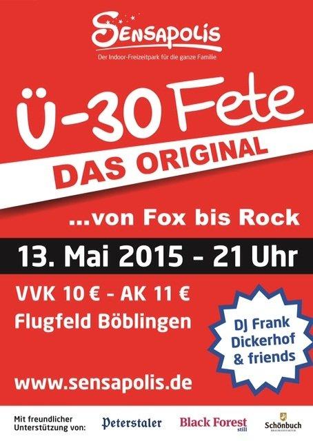 Ü-30 Fete – Die Party von Fox bis Rock