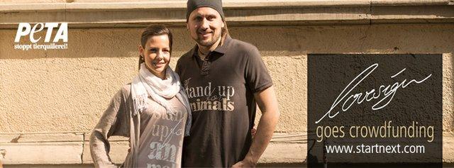 Irina Schönleber-Hartig mit dem bekannten veganen Koch Björn Moschinski