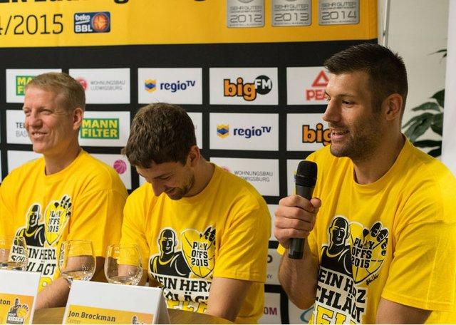 """""""Wir sind bereit"""" - MHP RIESEN blicken auf Viertelfinale voraus - MHP RIESEN Pressemitteilung vom 6. Mai 2015"""