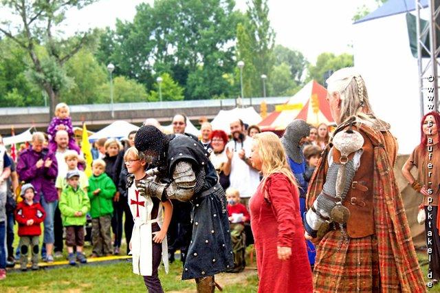 Ritterkampf beim Stauferspektakel